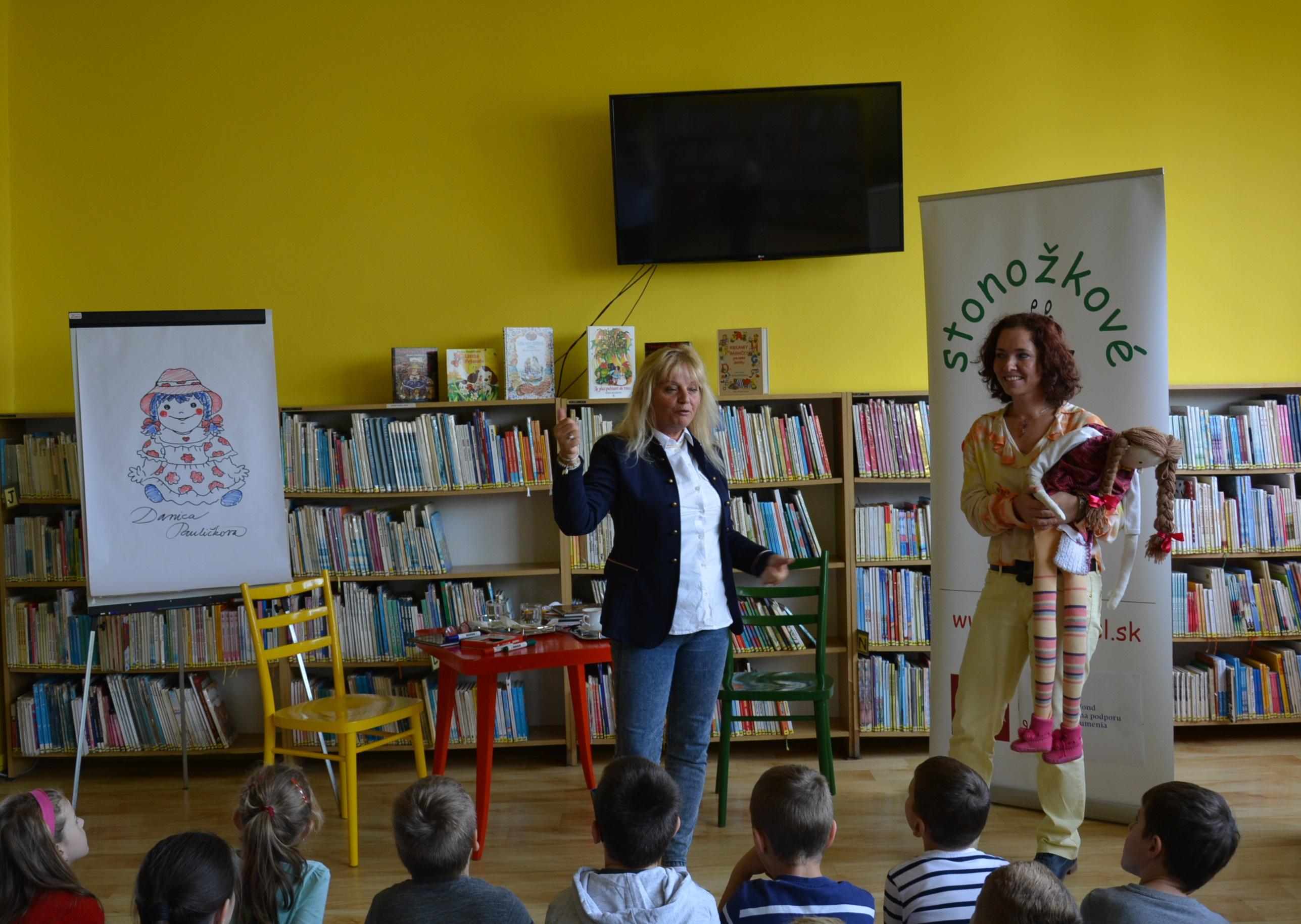 Danica Pauličková - beseda so spisovateľkou a ilustrátorkou v Ľubovnianskej knižnici (Stonožkové čítanie)