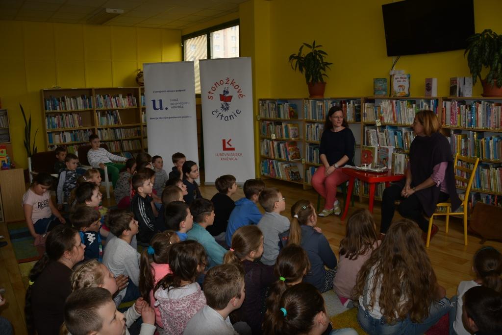 Stonožkové čítanie - stretnutie s Andreou Gregušovou