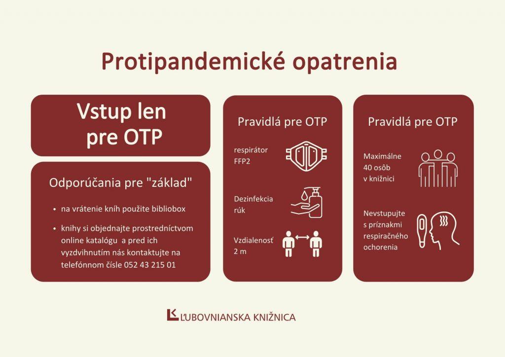protipandemické opatrenia - bordove A4